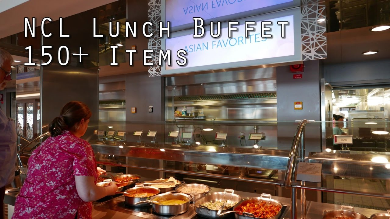 NCL Lunch Buffet 150+ Food Items from Garden Cafe - YouTube