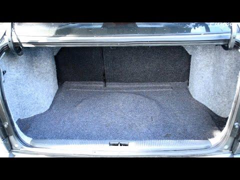 Оклейка багажника карпетом в Hyundai Accent