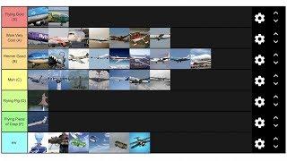 My PLANE Tier List