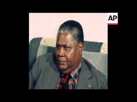 UPITN 18 1 77 NKOMO PRESS CONFERENCE AS HE LEAVES AFTER NIGERIAN VISIT
