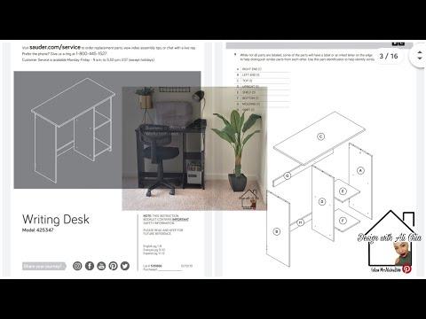 Walmart Mainstays Writing Desk Assembly