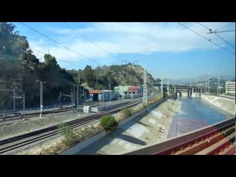 Raw footage: Riding the Metro Gold Line trom from the East Side to the Union Station in full HD