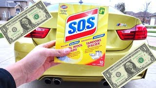 HOW TO: Clean your Muffler Tips for $1.00! (WORKS 100%!)