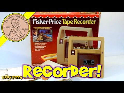 Fisher-Price Vintage Toy Tape Recorder Cassette Deck Player No.826, 1981 Kids Toy Reviews