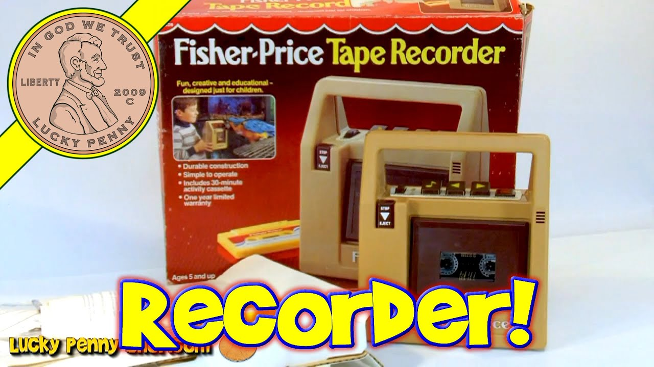 Fisher Price Vintage Toy Tape Recorder Cassette Deck Player No 826