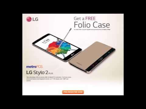 MetroPCS LG G Stylo 2 Plus Promotion FREE Folio Case