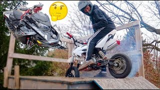 $16,000 NEW TOY... + HIS FIRST PIT BIKE