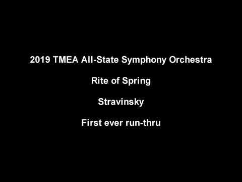 2019 TMEA Symphony Orchestra - First Ever Rite of Spring Run Thru Mp3