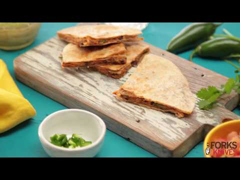 Black Bean and Sweet Potato Quesadillas | Forks Over Knives