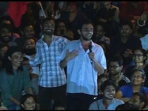 Umar Khalid's FULL SPEECH in JNU after bail: Criminals are in power