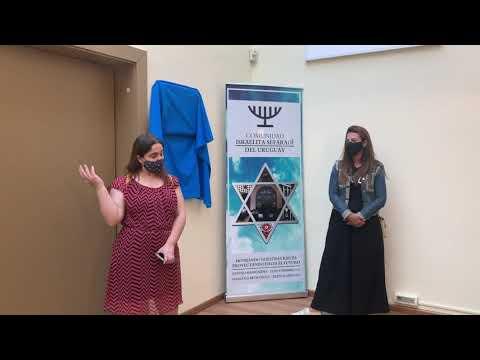 Inauguración De Placa - Moadon Becky Sabah Z¨L