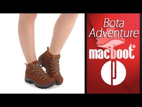e22be40aca Bota Adventure Feminina Macboot Eugenia - 7010196483 - YouTube