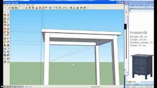 Google Sketchup Ikea Kommode Hemnes 1/3