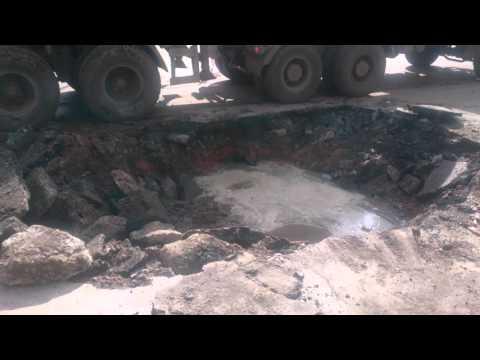 На улице Гагарина в Липецке прорвало водовод