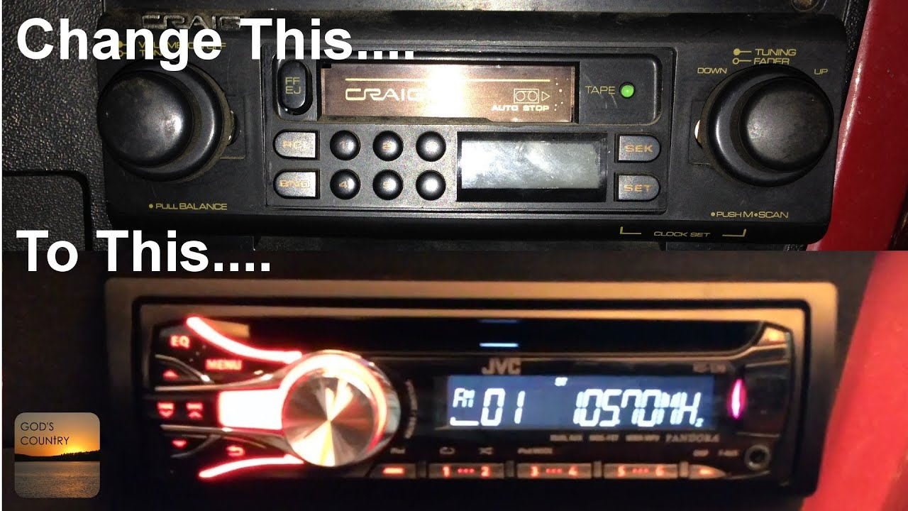 HowTo Install a Stereo in a 19731987 Chevy Truck, Crew Cab, Blazer, or Suburban  YouTube