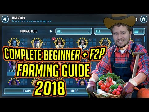 Complete Beginner + F2P Character Farming Guide for 2018! | Star Wars: Galaxy of Heroes