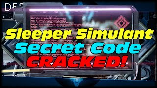 Sleeper Simulant Secret Code Cracked! Destiny The Promethean Code Solved!