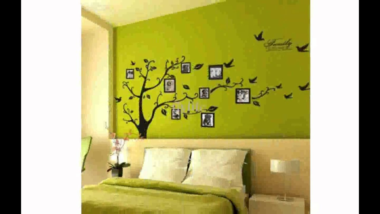 Tree Wall Decal with Picture Frames - YouTube