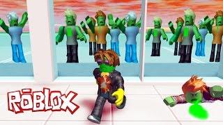 ЭТИ ЗОМБИ ХОТЯТ МЕНЯ СЪЕСТЬ!!! ROBLOX Мульт Игра для детей Побег из Торгового Центра
