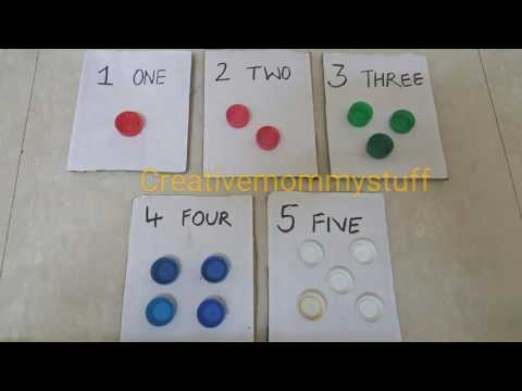 DIY activity to introduce numbers and counting