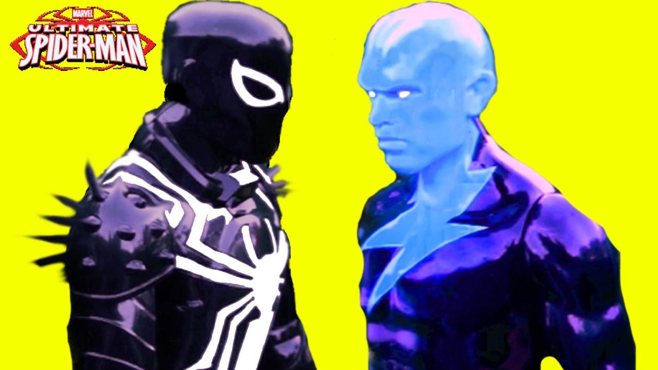 Spider-man Web Warriors Venom Spider-man vs Electro Marvel ...