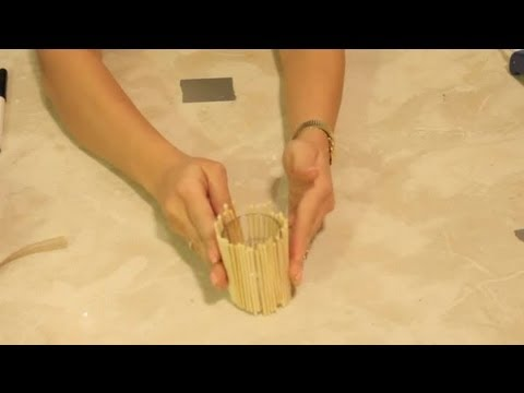 Bamboo Candle Holder Crafts Craft Project Ideas Youtube