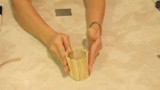 Bamboo Candle Holder Crafts : Craft Project Ideas
