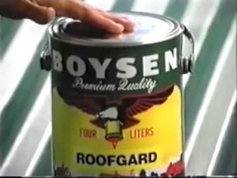 Boysen Roofgard Paint Tvc 1996 Youtube