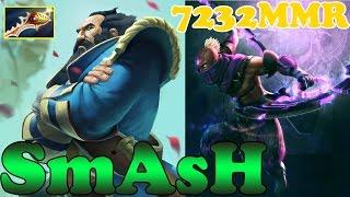 Dota 2 - SmAsH 7232 MMR Plays Kunkka And Anti-Mage - Gameplay!