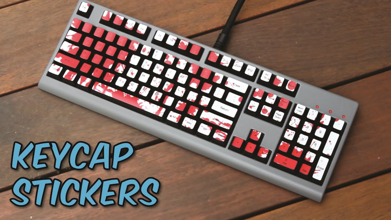 Mechanical Keyboard Key Cap Decals Stickers Review Youtube