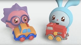 Малышарики - Машинка (12  серия)   Развивающие мультфильмы для самых маленьких 1,2,3,4 года