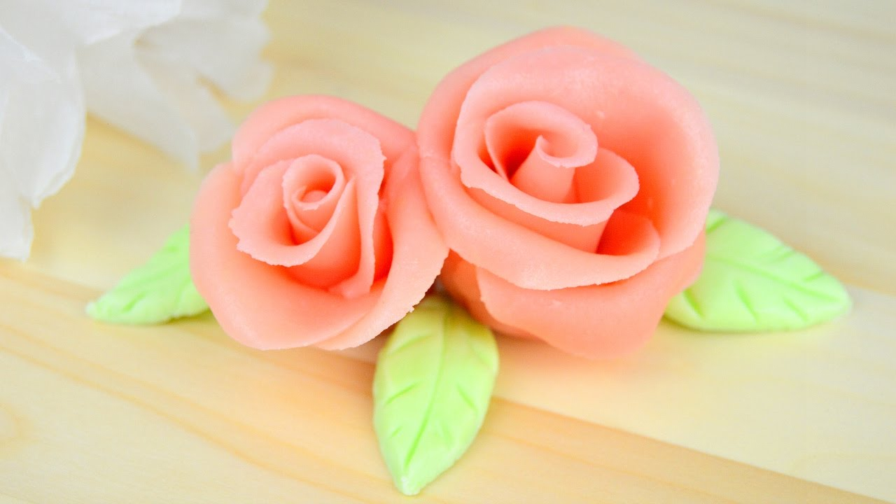 Faire une rose en p te d 39 amande cap p tissier youtube - Comment faire secher des roses ...