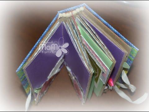 Миниатюрный альбомчик для фото и записей. Скрапбукинг