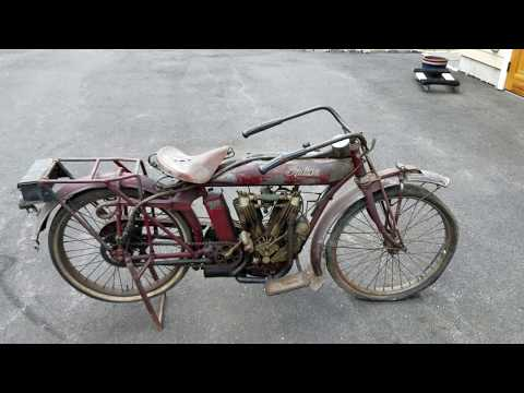 Original Paint 1913 Indian Motorcycle Barn Find!
