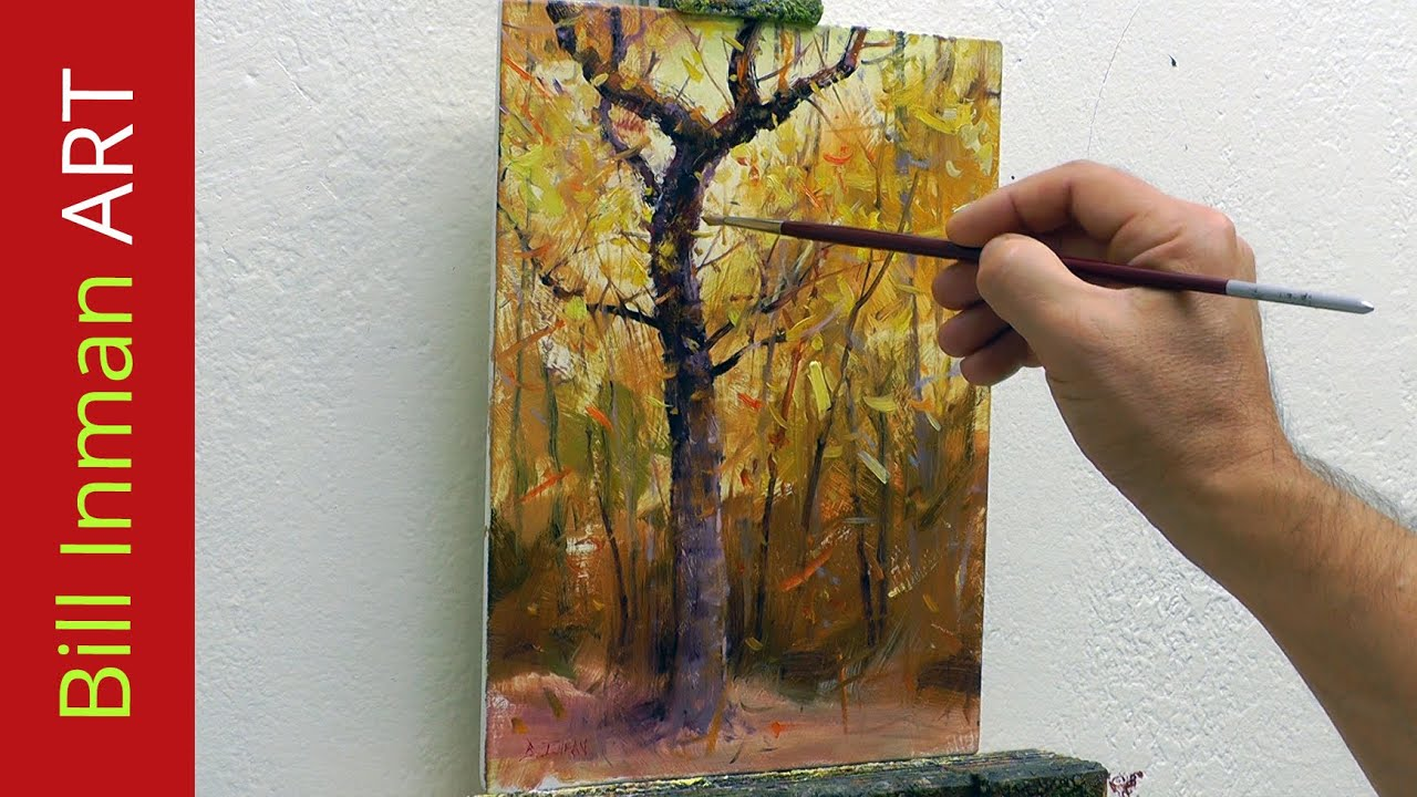Paint trees learn to paint fall colors and leaves fast for How to learn to paint