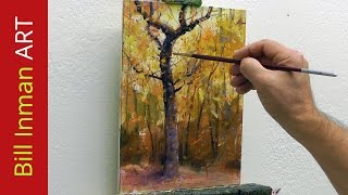 Learn to Paint Trees - Fall Colors and Leaves by Bill Inman
