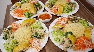 CƠM GÀ HỘI AN - Cách làm món Cơm Gà Hấp và Gỏi Gà cho món Cơm Gà by Vanh Khuyen