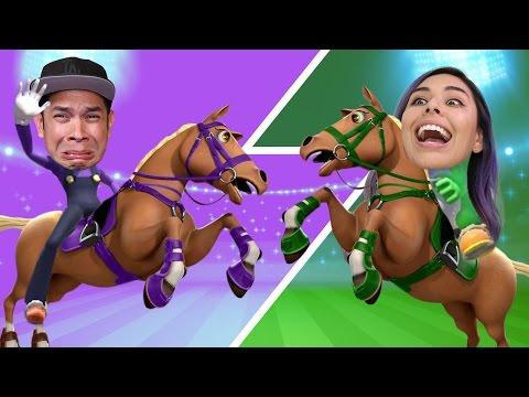 HORSE JOCKEYS! Husband vs Wife - Mario & Sonic Rio Olympics 2016