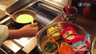 【Egg station】朝食のパフォーマンスでは出来立ての卵料理をお楽しみいただけます。