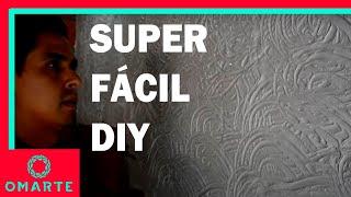 como crear una textura facil con los dedos