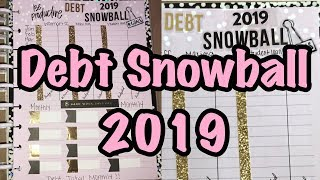 BUDGET WITH ME| 2019 DEBT SNOWBALL