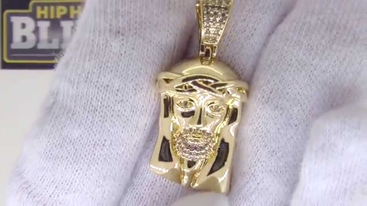 Canary Micro Jesus Pendant Gold Jesus Piece Urban Jewelry YouTube