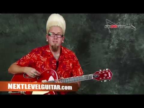 Learn Surf Rockabilly lead guitar EZ beginner solo licks in the style of Brian Setzer