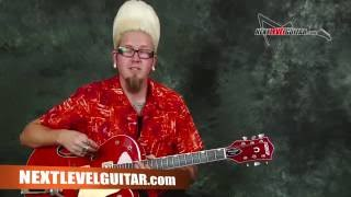 Learn Surf Rockabilly lead guitar EZ beginner solo licks in the style of Brian Setzer