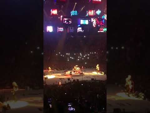 Drones above the stage at Metallicas O2 gig 22nd November 2017