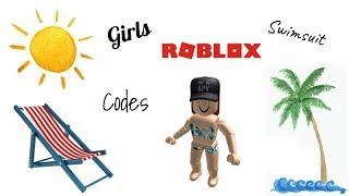 Códigos de trajes de baño roblox para niñas