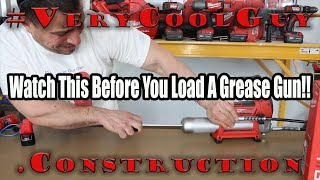 Watch This Video Beḟore You Load A Grease Gun Cartridge!