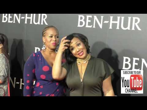 Erica Atkins Campbell and Trecina Atkins Campbell at the Premiere Of Paramount Pictures' Ben Hur at