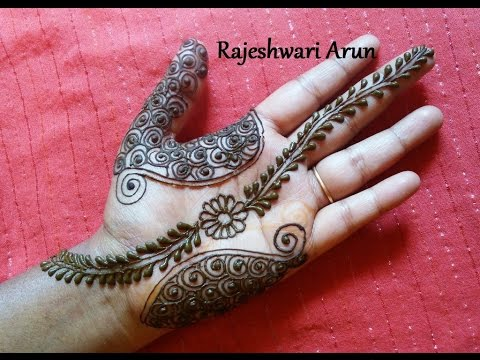 Simple Easy Henna Mehndi Designs For Hands Step By Step For