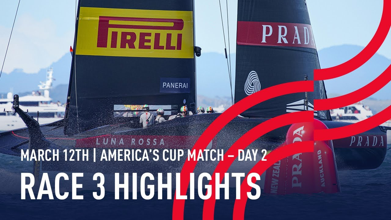 36th America's Cup Race 3 Highlights